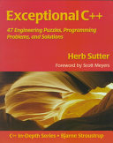 Exceptional C++ Book Cover