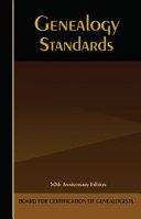 Genealogy Standards Book Cover